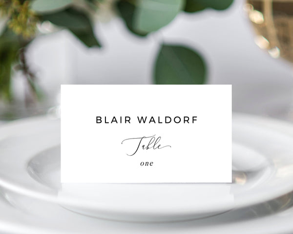 Wedding Place Cards, Seating Card, Simple Wedding Table Cards, Wedding Printable, Instant Download, DIY, Modern Calligraphy, Templett, W15