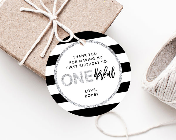 Instant Download Favor Tags Thank You Tag Mr Onederful Birthday