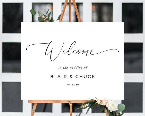 Wedding Welcome Sign Template, Welcome to the Wedding Printable, Welcome Board, Simple Wedding Sign, Instant Download, Templett, W15