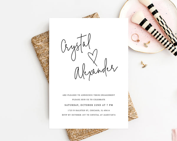 Engagement Party Invitation Template Printable Engagement