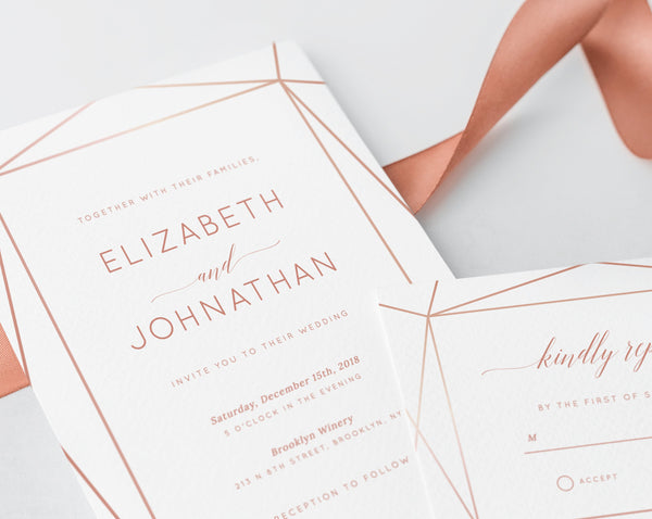 INSTANT DOWNLOAD Wedding Invitation Template, Wedding Invitation Suite, Invitation Set, Templett, Rose Gold, Nude, Copper, Blush Pink, W08