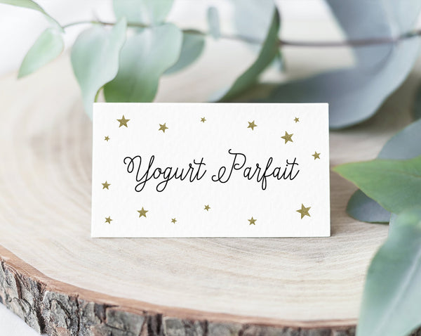 Little Star Place Cards Template Food Sign Little Star Baby Shower