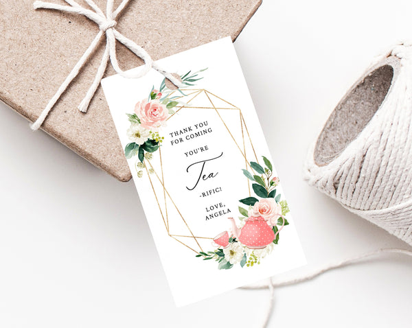 Tea For Two Favor Tags Thank You Tag Tea Party Favor Tag Tea