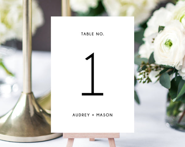 Wedding Table Numbers Template, Printable Wedding Table Numbers, Minimalistic Wedding Table Number Card, Instant Download, Templett, W25