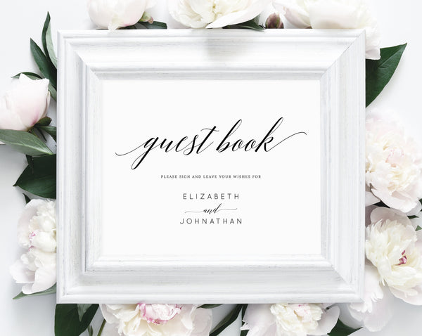 photo regarding Printable Guest Book named Immediate Down load Visitor Reserve, Wedding day Visitor E-book Indication, Would like for the Newlyweds, Visitor E-book Indicator Printable, Assistance Indicator, Easiest Needs, W02
