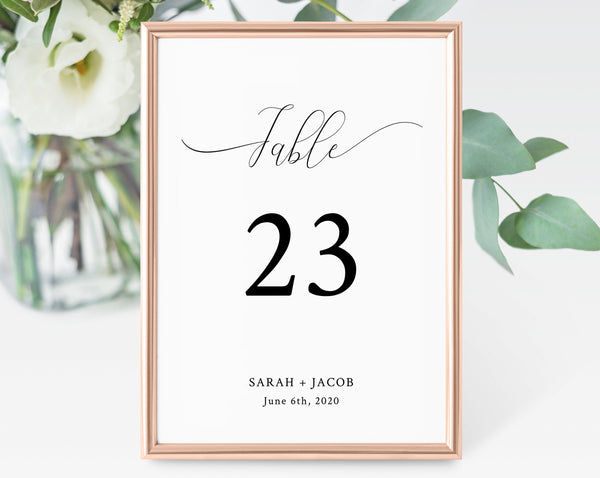 Wedding Table Numbers Template, Printable Wedding Table Numbers, Wedding Table Number Card, Instant Download, Templett, W31