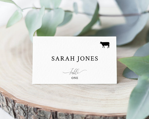 Wedding Place Cards Template With Meal Choice Selection, Seating Card, Wedding Table Cards, Printable, Instant Download, Templett, W31