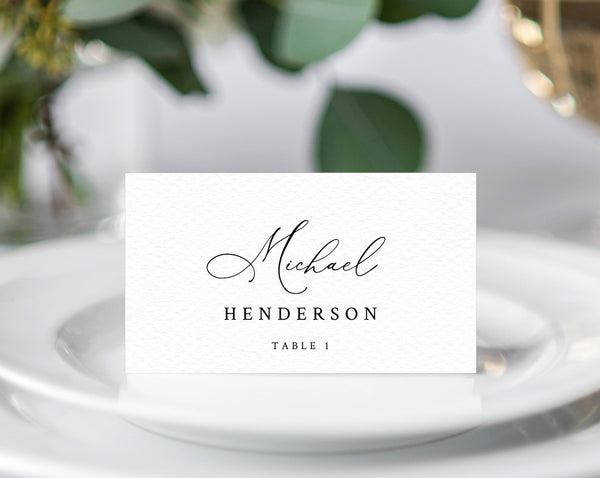 Wedding Place Cards Template, Wedding Seating Card, Wedding Escort Cards Printable, Printable, Instant Download, Templett, W30