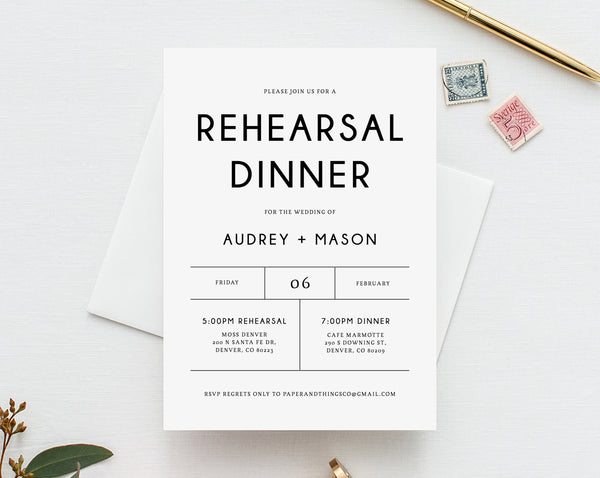 photo about Printable Rehearsal Dinner Invitations titled Rehearsal Evening meal Invitation Template, Printable Wedding day