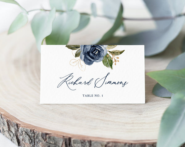 Wedding Place Cards Templates.Navy Gold Wedding Place Cards Template Seating Card Navy Wedding Escort Cards Printable Tent Cards Instant Download Templett W27