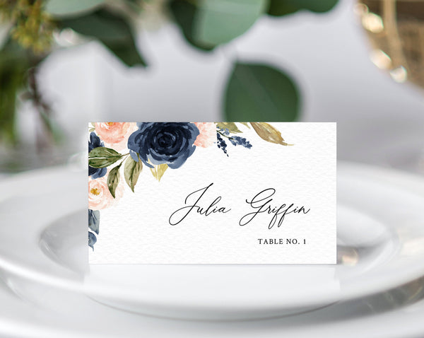 DIY place card download Printable place cards template floral place cards purple place cards INSTANT DOWNLOAD wedding name cards