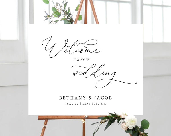 graphic about Welcome Sign Template named Wedding day Welcome Signal Template, Welcome toward the Marriage Printable, Welcome Board, Very simple Wedding day Signal, Prompt Down load, Templett, W30