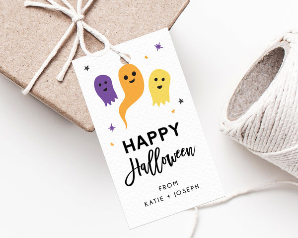 Halloween Party Favor Tag Template, Pastel Halloween Thank You Tag, Costume Party Favor Tag, Gift Tag, Favor Label, Templett