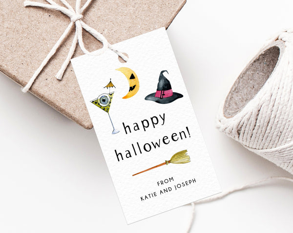 Halloween Party Favor Tag Template, Happy Halloween Thank You Tag, Costume Party Favor Tag, Gift Tag, Favor Label, Templett
