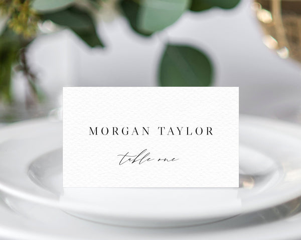 Minimalist Wedding Place Cards, Seating Card, Wedding Table Cards, Printable, Instant Download, DIY, Modern Calligraphy, Templett, W52