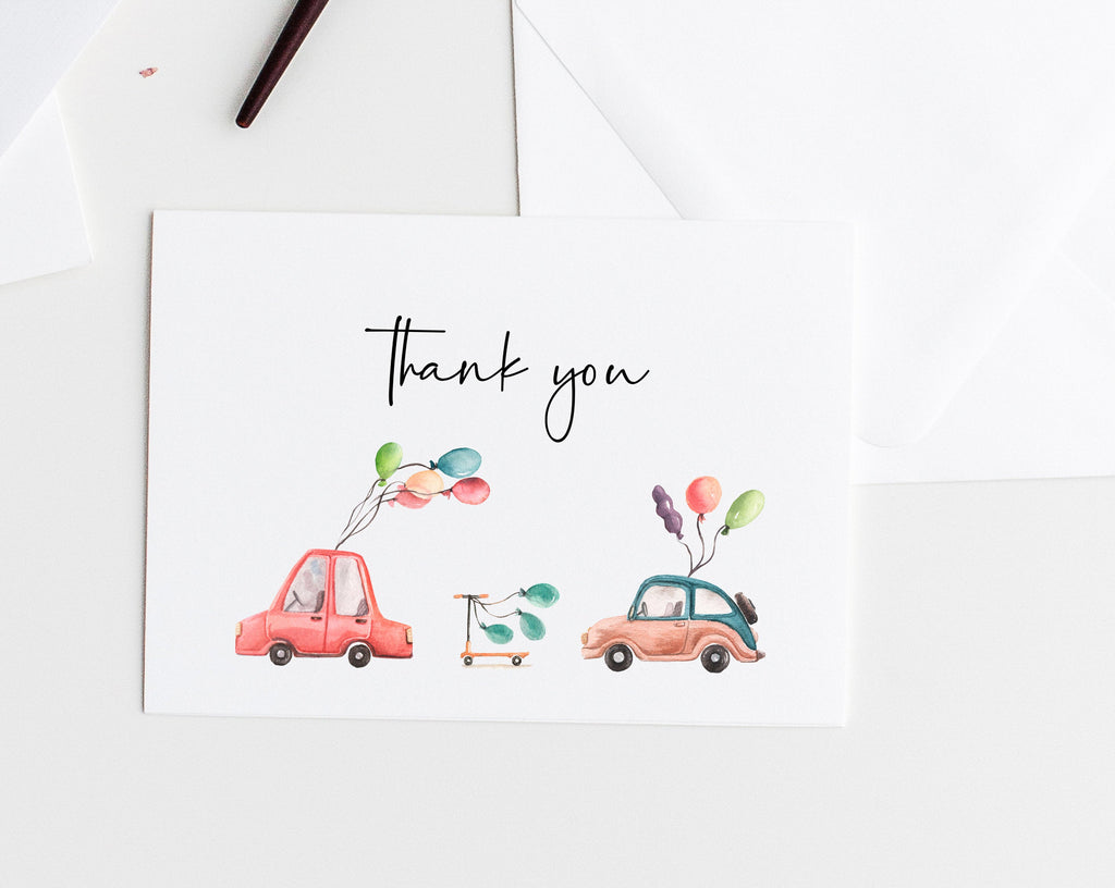 Drive By Parade Thank You Card Template, Printable ...