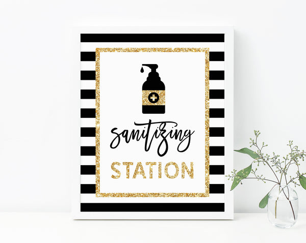 Mr. Onederful Sanitizing Station Sign, First Birthday Party Hand Sanitizer Sign, Mr. Onederful COVID Safety Guidelines Sign, B02