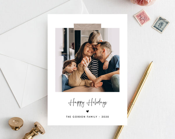 Christmas Photo Card Template, Holidays Card Template, Printable Christmas Card, Editable Template, Instant Download, Templett