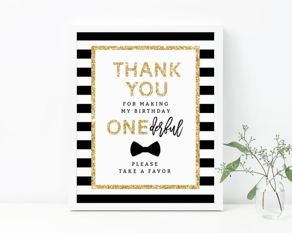 INSTANT DOWNLOAD Mr. Onederful Favors Sign, First Birthday Party Favor Sign, Mr. Onederful Take A Favor Sign, B02