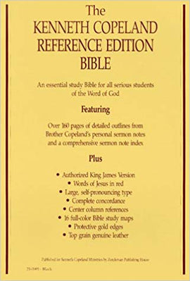 Kenneth Copeland Ref. Bible - Black DS