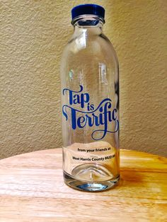 Tap is Terrific Custom Design Water Bottle