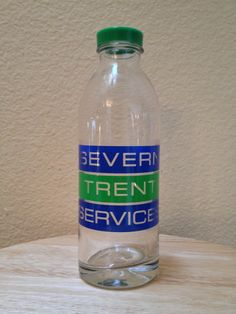 Green Cap Custom Design Water Bottle