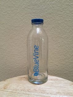 Blue Vine Custom Design Water Bottle