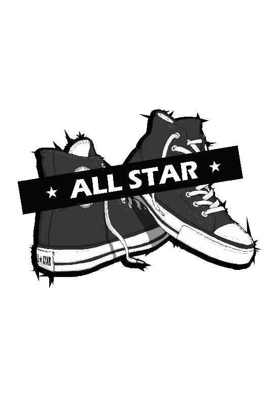 Design made in France original inspiré de la Converse All Star