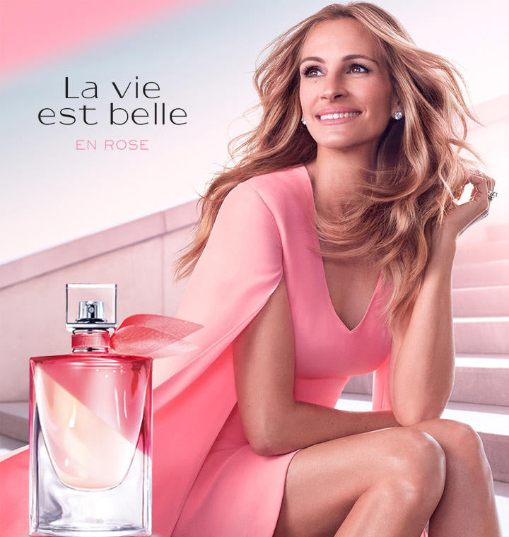 La Vie est Belle en Rose. A New Fragrance by Lancome...