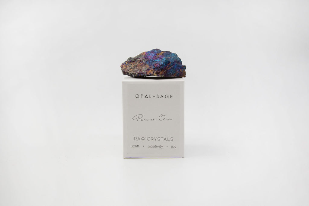 Opal + Sage Peacock Ore Crystal
