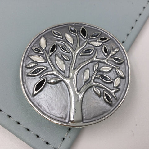 Textured tree design magnetic brooch