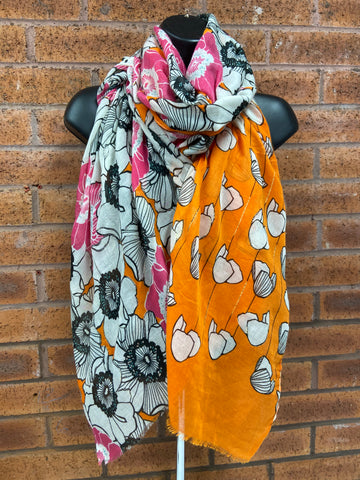 Orange & Fuchsia Scarf