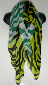 Multi shades of green with black zebra stripe