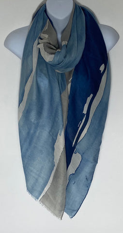 Royal/blue/grey mix Splash scarf