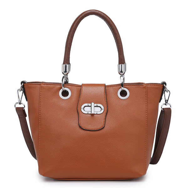 Tan Buckle Handbag