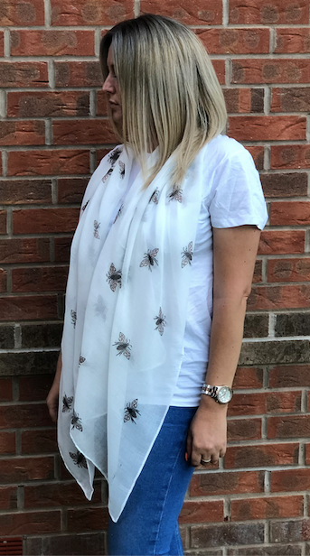 White Bee Scarf