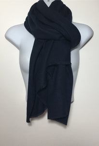 Super soft navy plain edge scarf