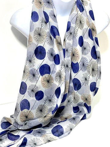 Scattered dandelion printed scarf