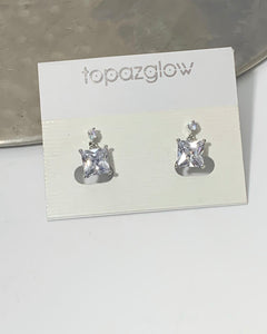 Diamanté squared earrings