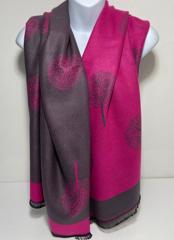 Cashmere blend, super soft mulberry tree scarf