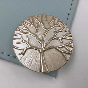 Small Tree of Life style magnetic brooch