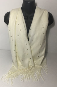 Super soft 'winter white' pearl scarf