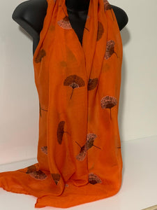 Helicopter seed printed scarf in orange