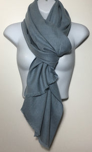 Super soft baby blue plain edge scarf