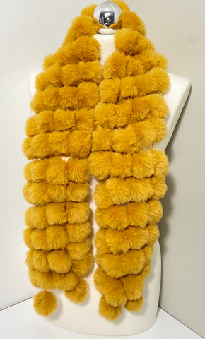 Faux fur Pom-Pom cravat in various colours