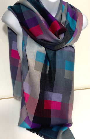 Abstract printed pashmina scarf
