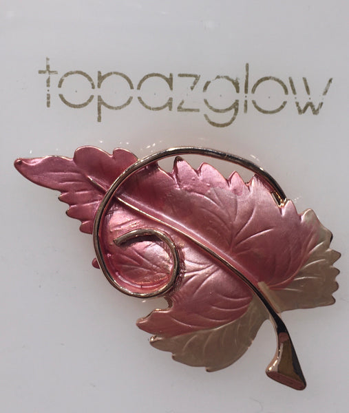 Magnetic Twisted Leaf Brooch