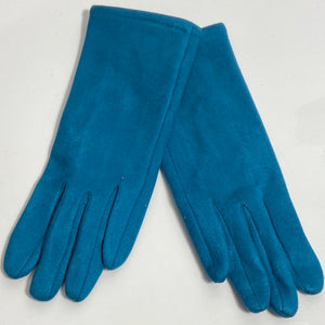 Plain jade blue gloves