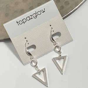 Triangular shaped earrings