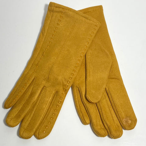 Mustard stitch gloves